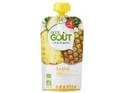 Gourde de fruits - Ananas - 120g