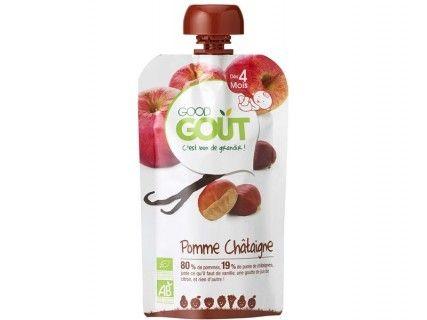 Gourde de fruits - Pomme châtaigne vanille - 120g