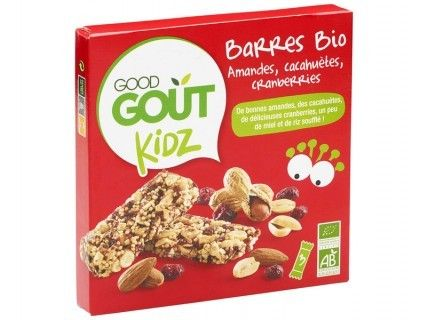 Kidz - Barres amandes cacahuètes cranberries