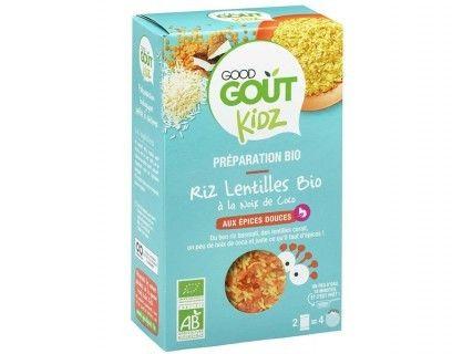 Kidz - Plat complet - Riz lentilles coco