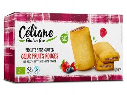 Biscuits coeur fruits rouges