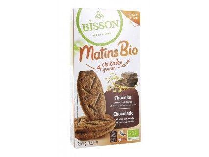 Biscuits Matins bio - 4 céréales chocolat