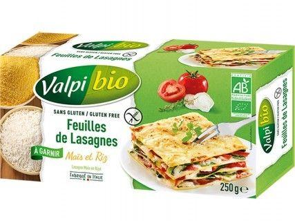 Feuilles de Lasagnes Maïs riz bio