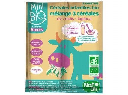 Céréales Minibio 3 céréales