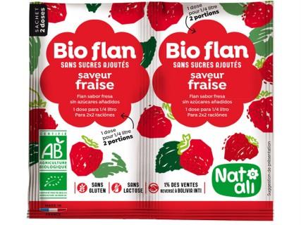 Bioflan Fraise sans sucre ajouté