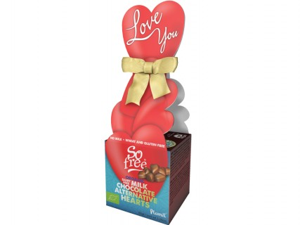 Boîte Cœur : Cœurs en Chocolat sans lait, sans œuf, sans gluten