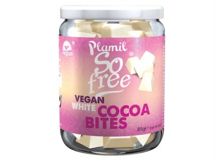 Carrés de chocolat blanc - Bocal de 85g - Sans lait, sans gluten, sans œuf