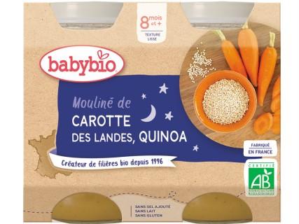 Pots Bonne Nuit Carottes des Landes, Quinoa - 2x200g