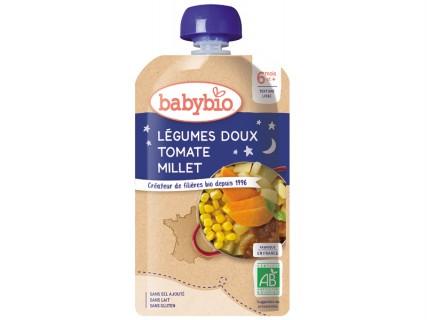 Légumes Doux, Tomate, Millet - Gourde 180g