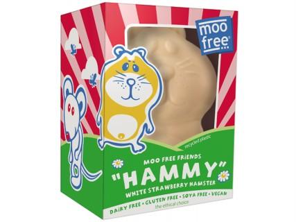 Hamster au chocolat blanc et à la fraise - sans lait, sans œuf, sans gluten