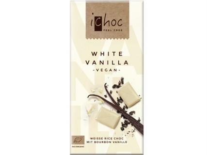 Tablette de Chocolat blanc IChoc sans lait - 80g