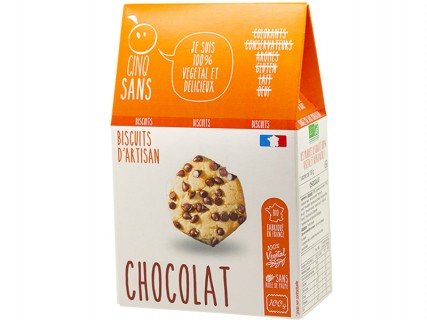Biscuits Pépites Chocolat Cinq Sans - 100g
