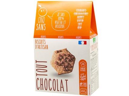 Biscuits Tout Chocolat Cinq Sans - 100g