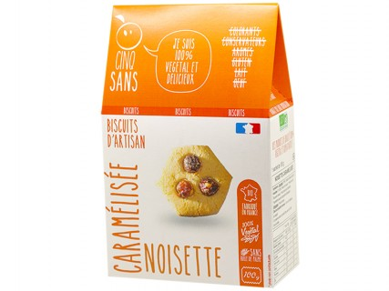 Biscuits Noisette Caramélisée Cinq Sans - 100g