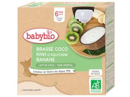 Brassés au Lait de Coco - Kiwi et Banane - 4x85g