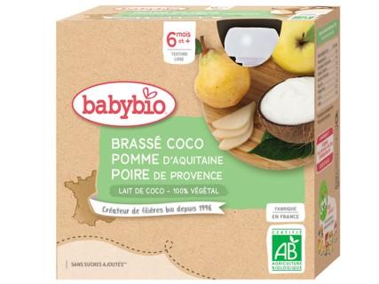 Brassés au Lait de Coco - Pomme et Poire - 4x85g