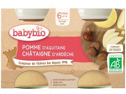 Pots Pomme Châtaigne - 2x130g