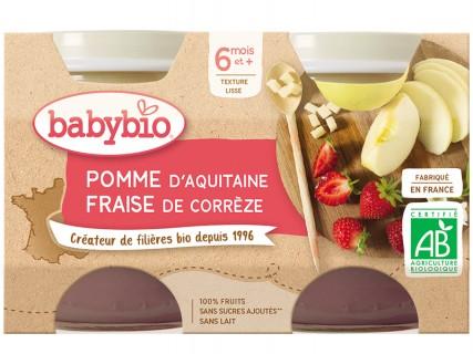 Pots Pomme d'Aquitaine, Fraise - 2x130g