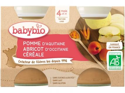 Pots Pomme Abricot céréales - 2x130g