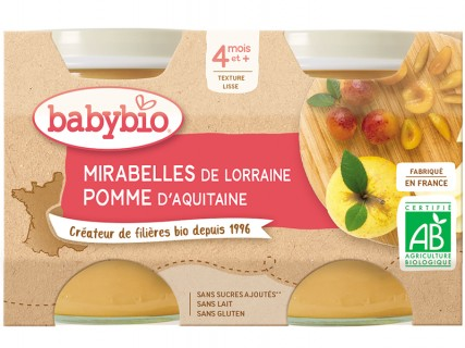 Pots Mirabelle Pomme - 2x130g