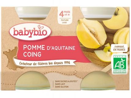 Pots Pomme d'Aquitaine, Coing - 2x130g
