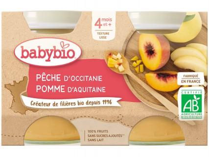 Pots Pêche d'Occitanie, Pomme d'Aquitaine - 2x130g