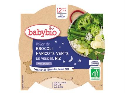 Assiette Délice Brocoli, Haricots verts et Riz - 230g