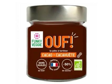 Pâte à tartiner OUF! Cacao - Cacahuètes - 200g