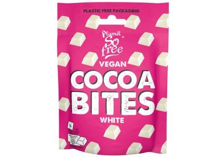 Carrés de chocolat blanc vegan - Sachet souple - Sans lait