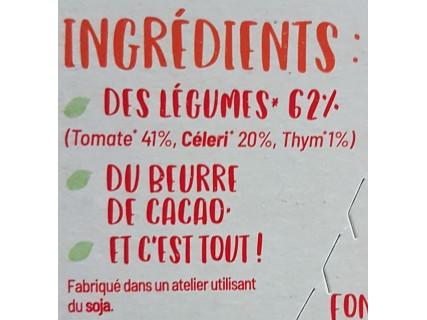 Carrés de légumes à cuisiner - Tomate Thym Céleri Bio - 75g