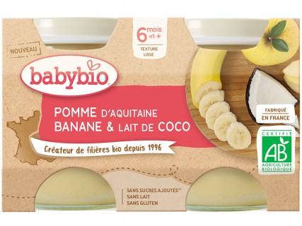 Pomme d'Aquitaine Banane Lait de Coco - 2x130g