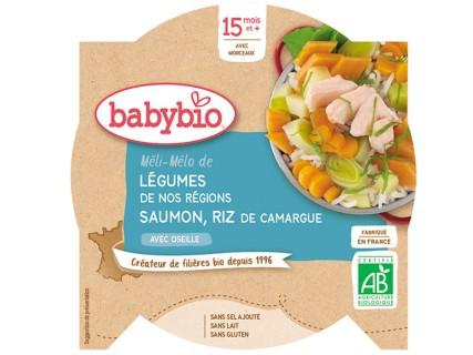 Assiette Méli-Mélo de légumes, saumon et riz - 260g