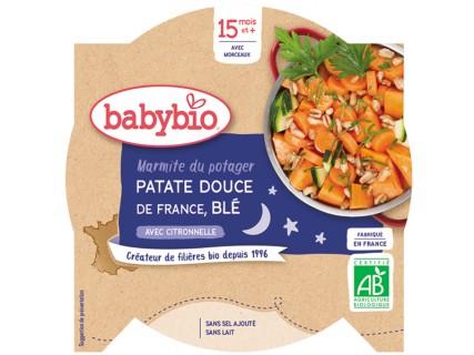 Assiette Marmite du potager Patate douce et Blé - 260g