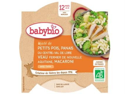 Assiette Petits pois, Panais, Veau, Macaroni - 230g