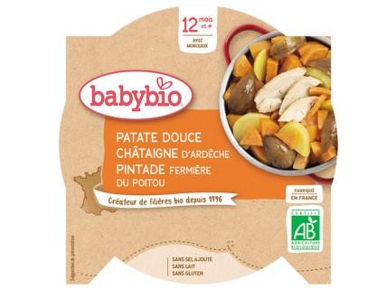 Assiette Patate douce, Châtaigne, Pintade fermière - 230g