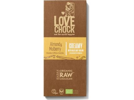 Tablette de Chocolat crémeux aux Amandes et Mûres - LoveChock - 70g
