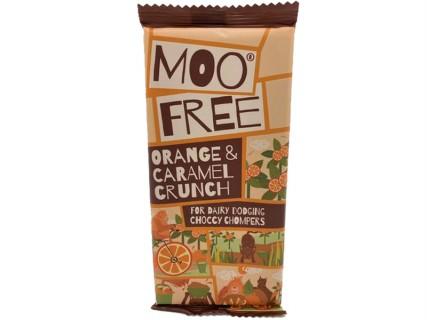 Tablette de chocolat orange et caramel, sans lait, sans œuf, sans gluten, sans soja - 80g