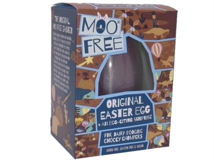 Œuf de Pâques Moo Free + un carré de chocolat surprise - sans lait, sans œuf, sans gluten - 95g