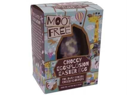Œuf de Pâques Moo Free rempli de gourmandises - sans lait, sans œuf, sans gluten - 80g