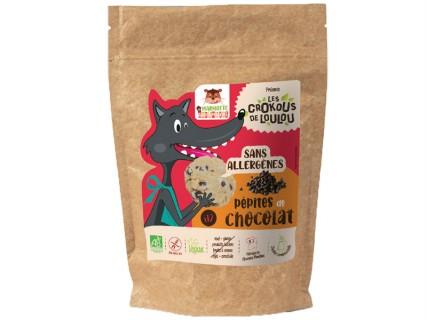 Cookies Crokous - Pépites de chocolat - 150g - sans lait, sans gluten, sans œuf, sans fruit à coque