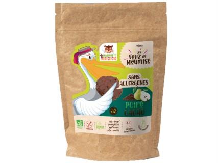 Biscuits Foliz - Poire cacao - 150g - sans lait, sans gluten, sans œuf, sans fruit à coque