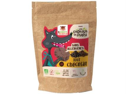 Cookies Crokous - Tout chocolat - 150g - sans lait, sans gluten, sans œuf, sans fruit à coque