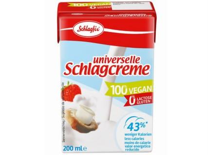 Crème cuisine végétale, sans lactose, sans lait - teneur réduite en sucre - 200ml