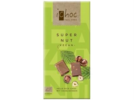 """Tablette de Chocolat """"au lait"""" sans lait, et aux noisettes """"Super Nut"""" - 80g"""