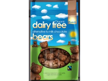 Oursons au chocolat sans lait, sans œuf, sans gluten - 125g