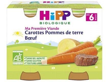Pots Carottes Pommes de terre Bœuf 2x190g