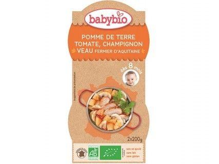 Bols Pomme de terre Tomate Champignon Veau fermier - 2x200g