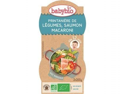Bols Printanières de Légumes, Saumon, Macaroni - 2x200g