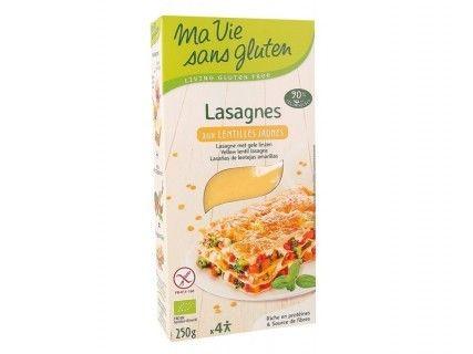 Feuilles de Lasagnes aux lentilles jaunes