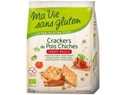 Crackers de pois chiches - tomate basilic